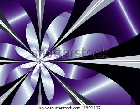 flower fractal design - stock photo