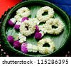 flower garlands of thai style - stock photo