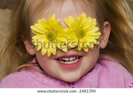 Flower Girl - stock photo