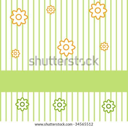 Flower greeting card, summer background (jpg) - stock photo