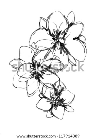 Flower (Hand Drawn) - stock photo