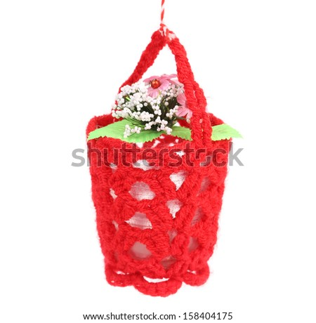 Flower in a basket. - stock photo