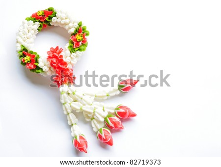 flower in Thai Tradition Style - stock photo