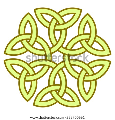 Flowerlike Celtic Knot Vector Illustration Your Stock Vector ...