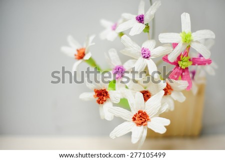 flower made of paper - stock photo