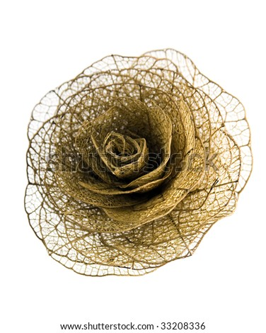 Flower made with leaf vein - stock photo