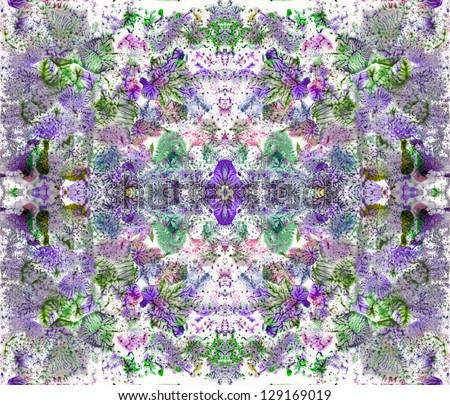 Flower meadow, background - stock photo