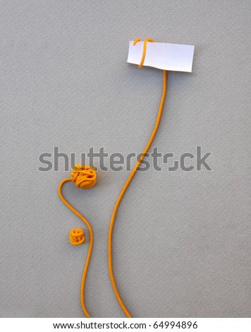 flower note paper: A stalk rolled up around an opened  paper showing its contents: ready for your message