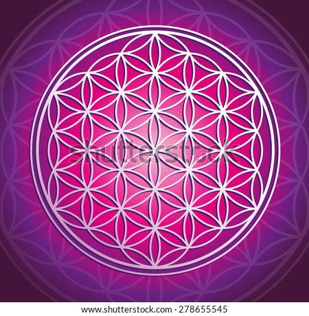 flower of life - stock photo