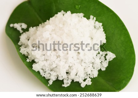Flower of salt. - stock photo