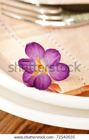 flower on the plate - stock photo