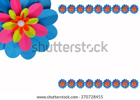Flower paper - stock photo