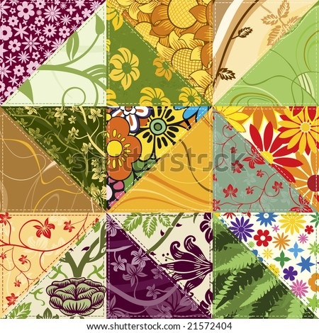 Flower Patchwork - stock photo