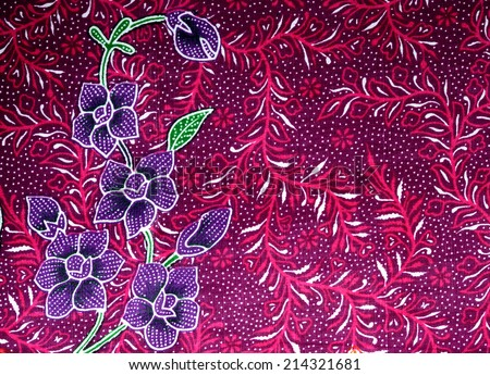 flower pattern background on batik fabric