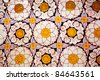 flower pattern in temple of tooth of buddha, candy, sri lanka - stock photo
