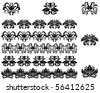 Flower patterns and borders. Vector version also available in gallery - stock vector