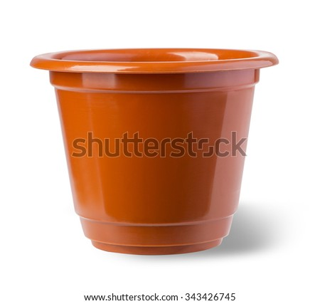 flower pot isolated on white background with clipping path