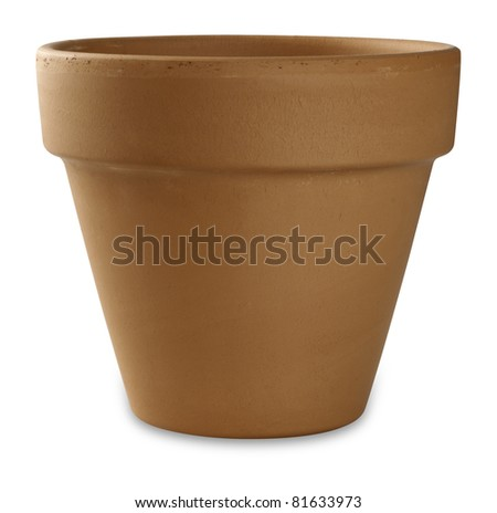 flower pot on white
