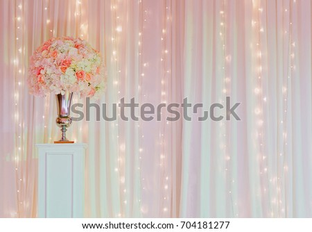 Flower pot wedding decoration white fabric stock photo edit now flower pot wedding decoration white fabric texture background backdrop colorful background junglespirit