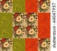 flower quilt - stock