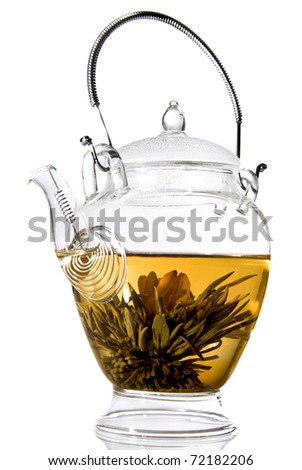 Flower tea - stock photo