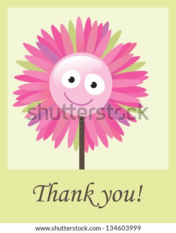 Flower thank you card - Jpeg - stock photo