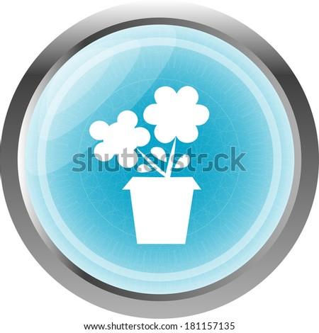 Flower web buttons for website or app