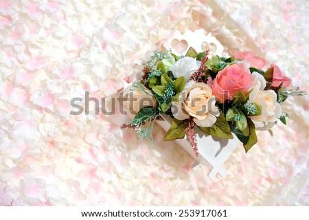 flower wedding - stock photo