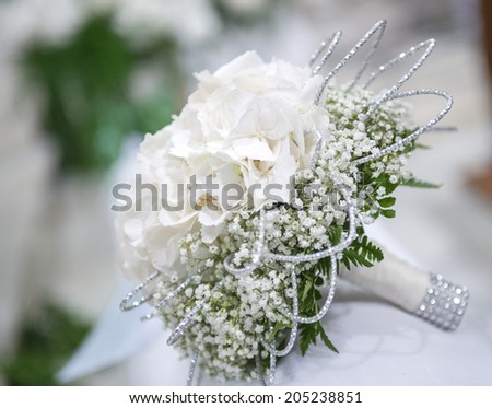 flower white bouquet of the bride