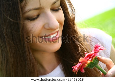 Flower Woman - stock photo