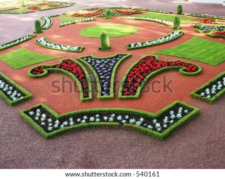 Flowerbed - stock photo