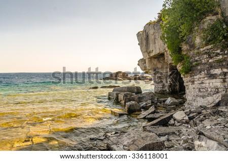 Flowerpot island, Tobermory - stock photo