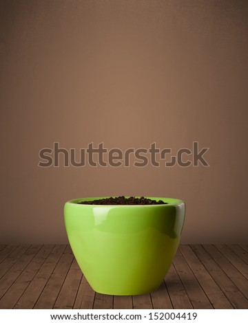 Flowerpot with empty space - stock photo