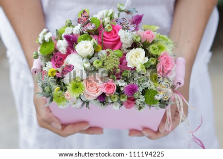 pink wedding bouquet brides hands stock photo 55797037 shutterstock. Black Bedroom Furniture Sets. Home Design Ideas