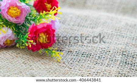 flowers are abstract of congratulation and love - stock photo