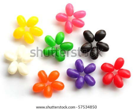 Flowers are made by jelly bean candy