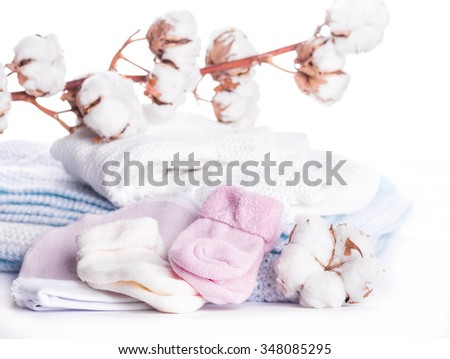 Flowers blossoming cotton children's clothes, hat and socks