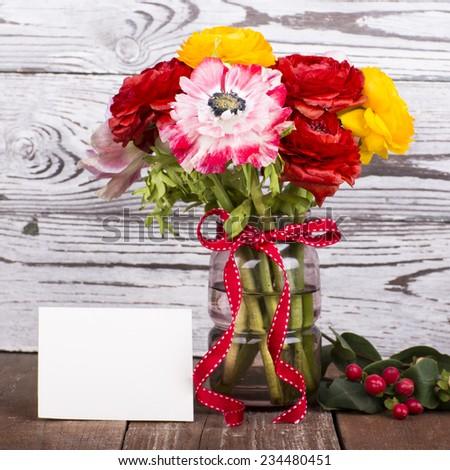 flowers bouquet - stock photo