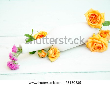 flowers decorated in a bottle