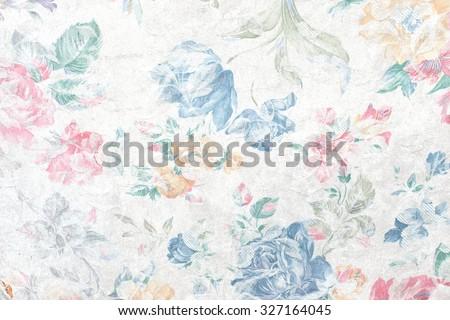 flowers fabric - stock photo