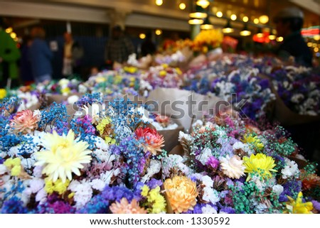 flowers for sale - stock photo