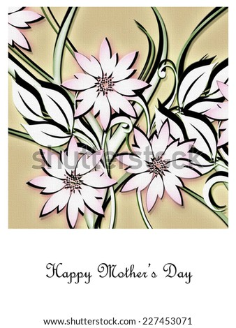 Flowers - Happy Mother's Day - stock photo