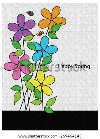 Flowers - Happy Spring - stock photo