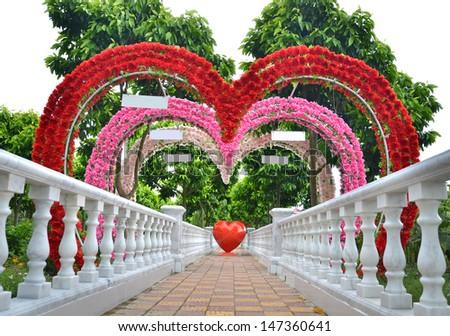 flowers heart shape door stock photo   shutterstock, Beautiful flower