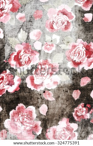 flowers illustration - stock photo
