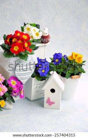 Flowers in the drawer, and the heart - stock photo