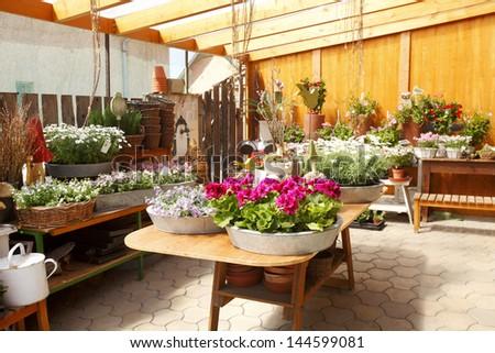 Flowers Merchant - stock photo
