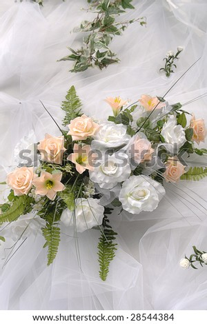 Flowers on a white background - stock photo