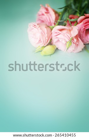 flowers on green background - stock photo