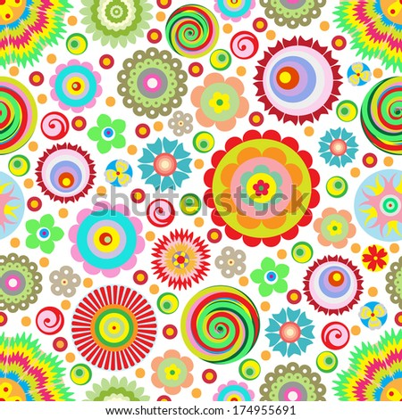 flowers, raster, abstract seamless pattern, endless floral background Designs for use in fashion, mass print production, advertising, web and other various applications.